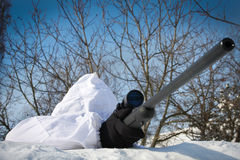 狙击手冬天 库存图片