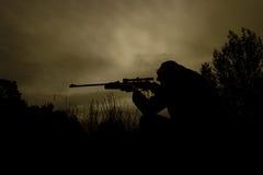 狙击手工作 库存图片