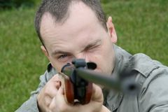 狙击手 库存照片