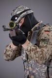 狙击手瞄准 免版税图库摄影