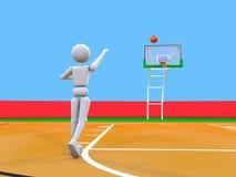 狡猾的投掷排球运动员 向量例证