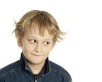 狡猾的男孩 免版税库存图片