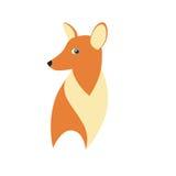狡猾的Fox传染媒介例证 免版税库存图片