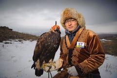 狩猎大师的国际比赛与狩猎鸟的 库存照片