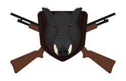 狩猎战利品 公猪头 库存图片