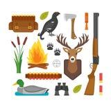 狩猎标志传染媒介集合 库存照片