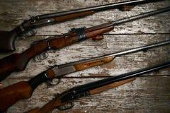 狩猎步枪的ollection 免版税库存图片