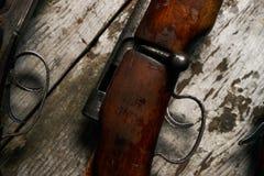 狩猎步枪的ollection 免版税库存照片