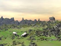 狩猎狼- 3D回报 免版税库存照片