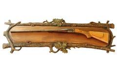 狩猎猎枪被隔绝在白色 免版税库存照片
