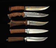 狩猎knifes 免版税库存图片