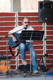 独奏的歌唱家 免版税库存照片