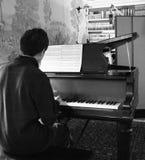 独奏的钢琴 库存照片