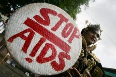 变性公共标记世界艾滋病日 库存图片