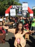 地球小时竞选在印度尼西亚 库存照片