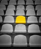 独有的位子黄色 库存照片