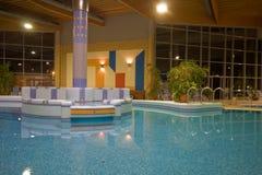 独有的池游泳 图库摄影