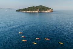 独木舟在亚得里亚海 免版税库存照片