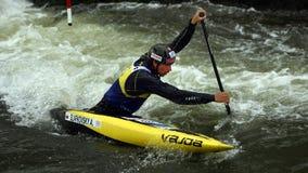 独木舟障碍滑雪ICF世界杯,亚历山大Slafkovsky,斯洛伐克 库存照片