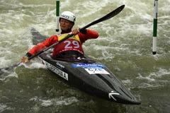 独木舟障碍滑雪ICF世界杯, Amalie Hilgertova,捷克 库存照片