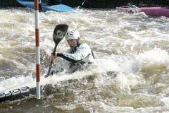 独木舟障碍滑雪在布拉格 库存图片