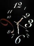独特和抽象时钟 免版税库存图片