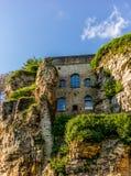 独特的中世纪建筑学在卢森堡 库存照片
