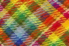 独特的亚麻制白俄罗斯语的全国传送带由大量五颜六色的螺纹制成 图库摄影
