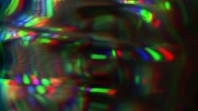 独特的光,动态畸变,老电视概念 E 影视素材