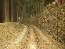 独特的历史的狭窄测量仪铁路 库存照片