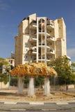 独特的喷泉在贝尔谢巴,以色列 免版税库存照片