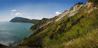 独特的地质结构告诉了Il Trave 免版税库存照片