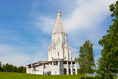 独特的帐篷教会在Kolomenskoe公园 免版税库存照片