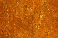 独特的抽象纹理-创造铁锈样式的石表面上的生锈的铁矿 免版税库存图片