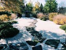 独特的日本沙子庭院 免版税库存图片