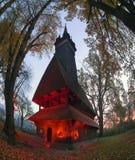 独特的木教会 库存图片