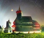 独特的木教会 免版税库存照片