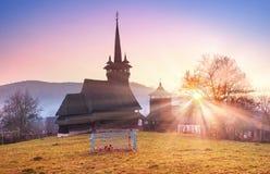 独特的木教会 库存照片