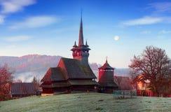 独特的木教会 图库摄影