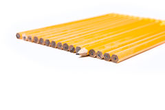 独特的概念没有2支铅笔 免版税库存照片