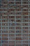 独特的砖样式背景 免版税库存照片