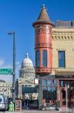独特的dowtown大厦在博伊西爱达荷和资本 免版税库存图片