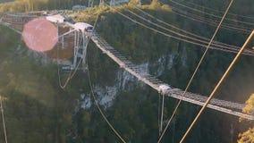 独特的SKYPARK AJ哈克特索契, Mzymta的河谷Ahshtyrskaya峡谷 股票视频