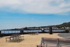独眼巨人沿海岸区在Acitrezza 西西里岛 图库摄影