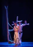 独立在后差事到迷宫现代舞蹈舞蹈动作设计者玛莎・葛兰姆里 免版税图库摄影