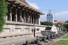 独立大厅在科伦坡被打开了作为斯里兰卡的解放的标志从英国委员会的 库存图片