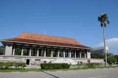 独立大厅在科伦坡被打开了作为斯里兰卡的解放的标志从英国委员会的 免版税库存图片