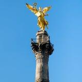 独立天使,墨西哥城的标志 免版税库存图片
