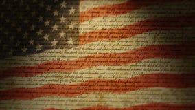 独立宣言,美国旗子 库存例证
