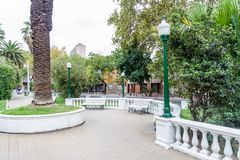 独立岛广场在门多萨 库存照片